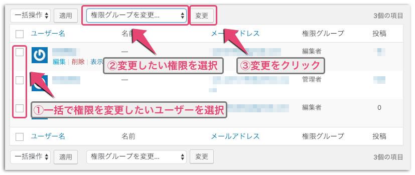 WordPressのユーザーの管理