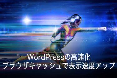 WordPressの高速化-ブラウザキャッシュで表示速度アップ「.htaccess」の書き方